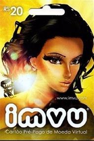 Imvu Brasil R$20 Egift (cash) Envio Imediato - Vip