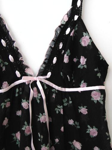 in bloom camison babydoll  de chiffon floral mediano