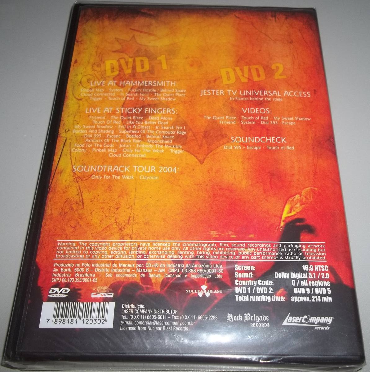In Flames (swe) - Dvd Used & Abused - In Live We Trust