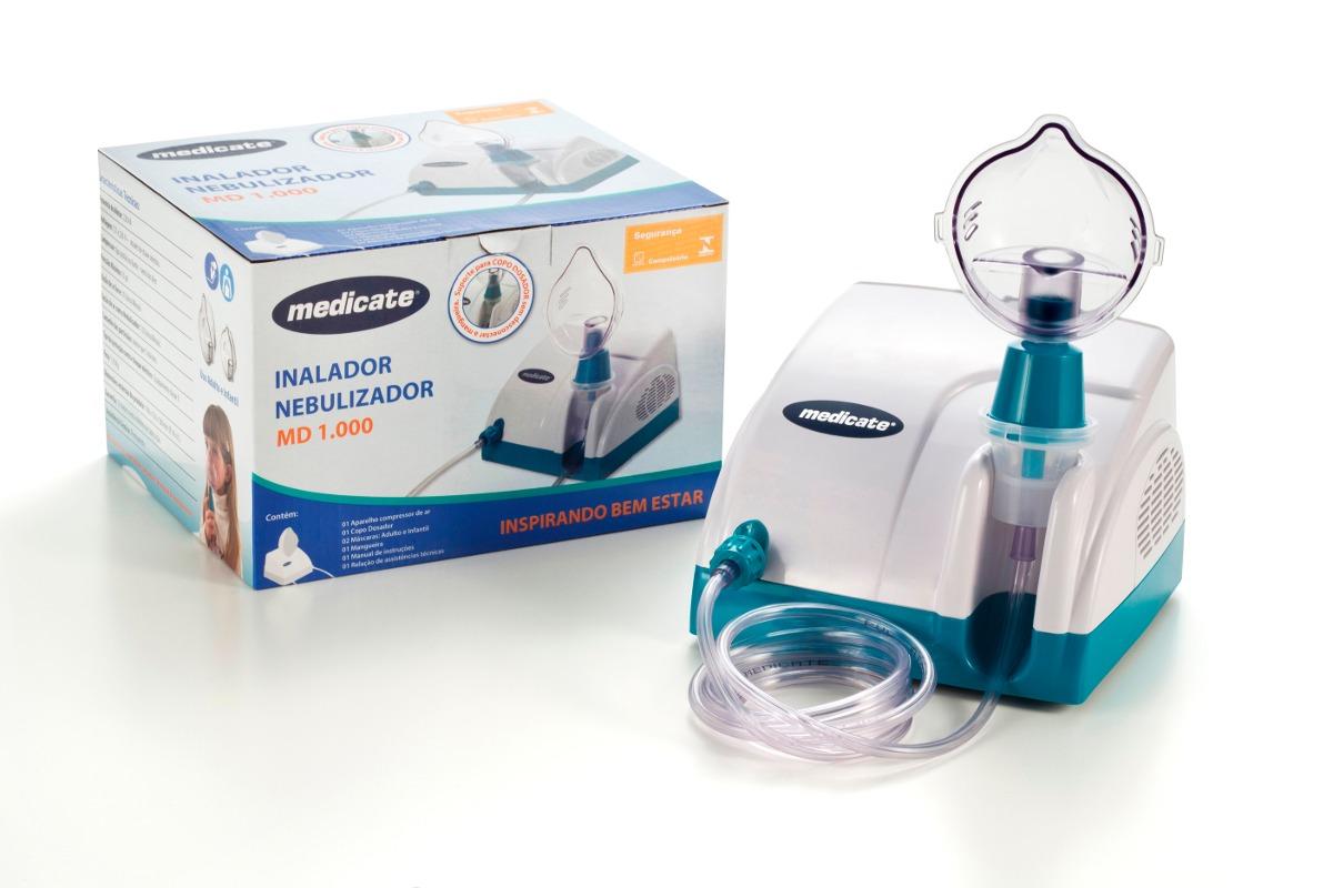 Inalador Nebulizador Portátil Bivolt Md 1000 Medicate - R ...