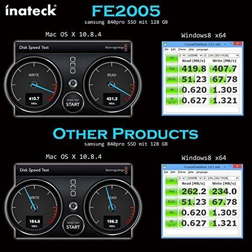 inateck 2,5 pulgadas usb 3.0 disco duro disco envolvente / c