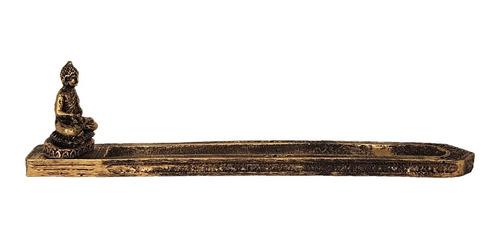 incensário porta incenso buda hindu zen resina 25cm