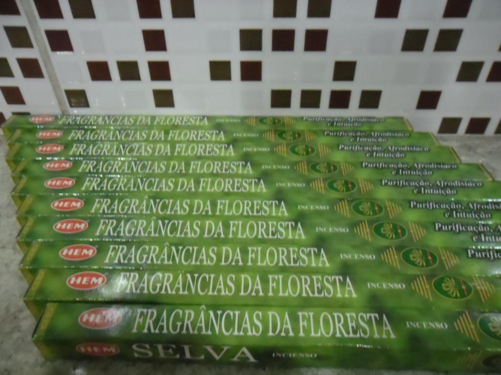 c2066083ed Incenso Indiano Hem Fragrância Da Floresta 3box 25cx+brinde - R  125 ...