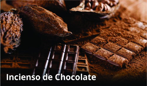 incienso chocolate artesanal - 10 paquetes + palo santo