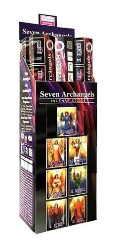 incienso de los 7 arcangeles - 1 caja con 6 paquetes