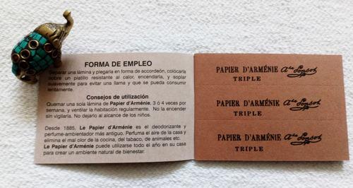 incienso francés tradicional - le papier d'armenie set de 2