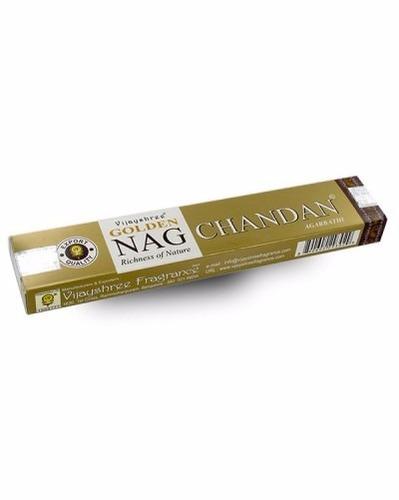 incienso golden nag chandan de la india paquete de 12 sobres