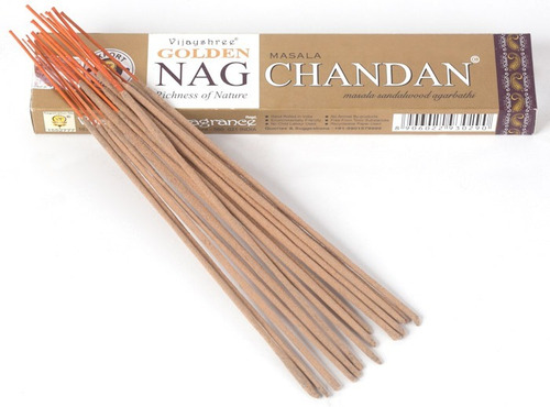 incienso golden nag chandan / paquete con 5 cajitas o sobre