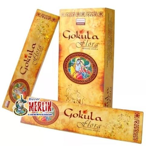 incienso hindu gokula flora - kit de 6 paquetes