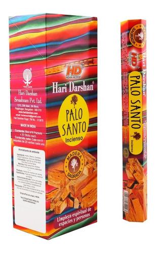 incienso palo santo hindu - caja con 6 paquetes premium
