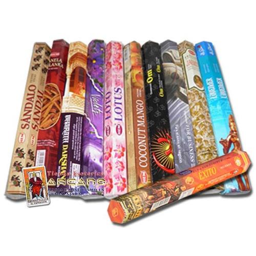 inciensos y aromas finos  - caja con 6 tubos hexagonales