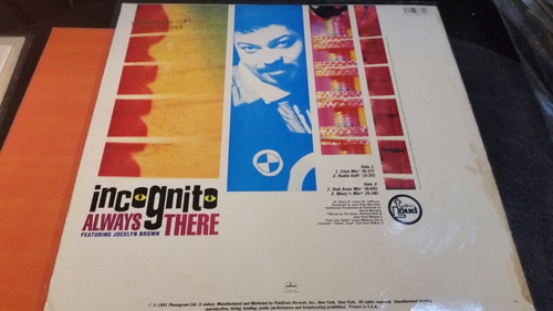 incognito feat jocelyn brown always there vinilo maxi usa