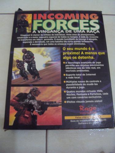 incoming forces - jogo para pc - raro