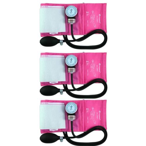 incoterm aparelho pressão tradicional rosa (kit c/03)