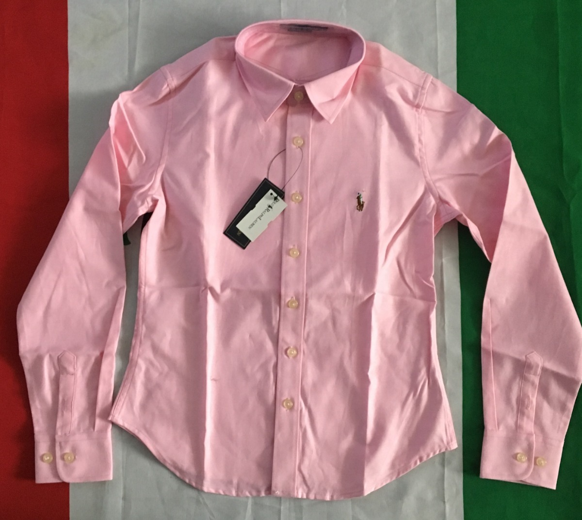 increible blusa camisa rosa mujer dama polo ralph lauren. Cargando zoom. f993ba35a48