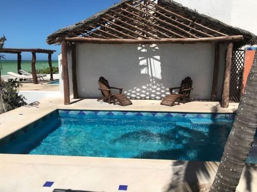 increíble casa frente de playa uaymitun, yucatán.