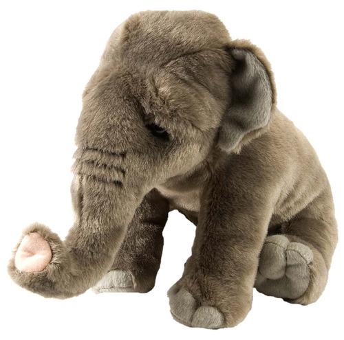 increible elefante asiatico de peluche y felpa wild republic