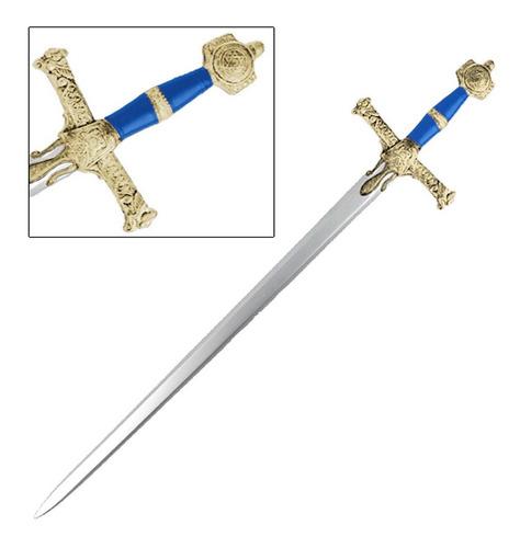 increíble espada rey salomon metal medieval 123cm acero 404