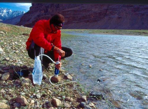 increíble filtro de agua ideal para campamento excursión etc