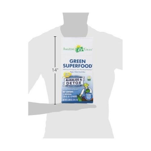 increíble hierba verde súper alkalize y desintoxicación, caj