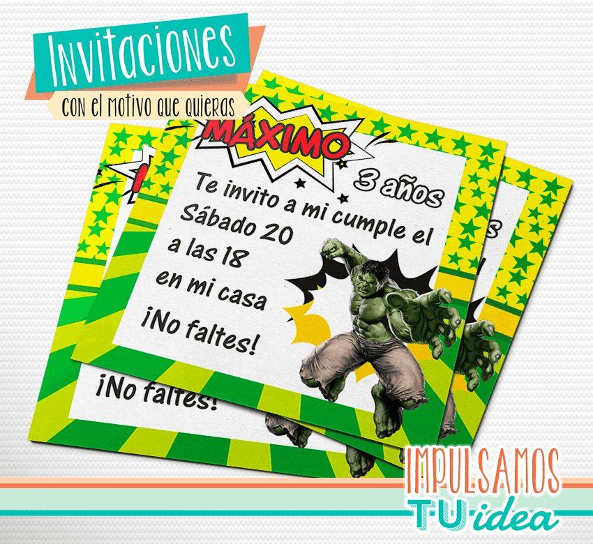 Increíble Hulk Invitación Para Imprimir