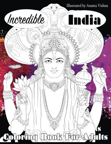 Increíble La India Libro Para Colorear Para Adultos (hermoso