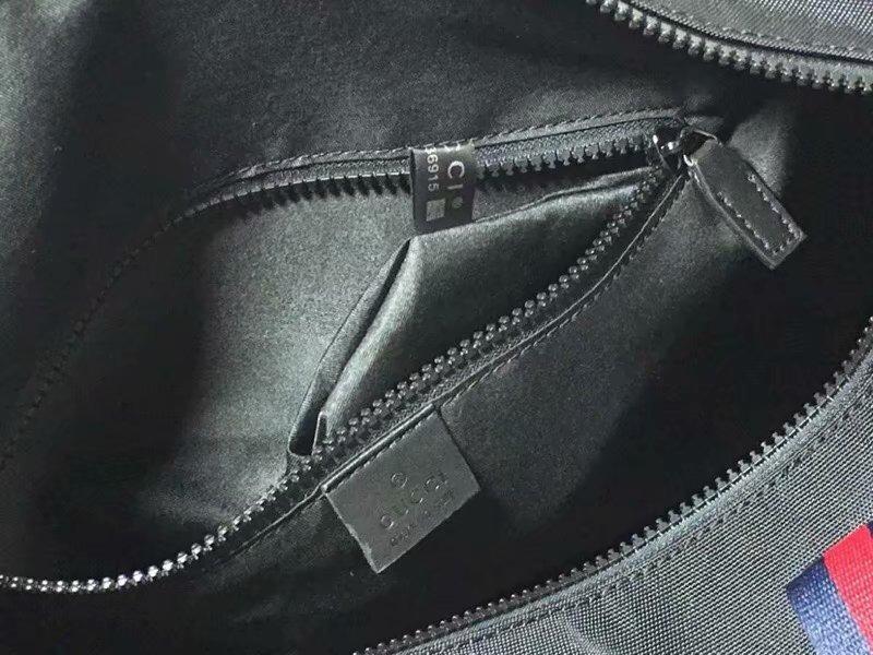 961e07c8b increible maleta bolsa de viaje gucci collage negra 2 lineas. Cargando zoom.