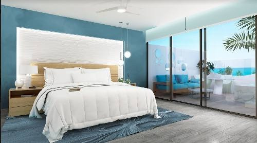 increíble penthouse de una recámara en coco beach