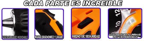 increible taladro inalambrico bateria de litio recargable 12