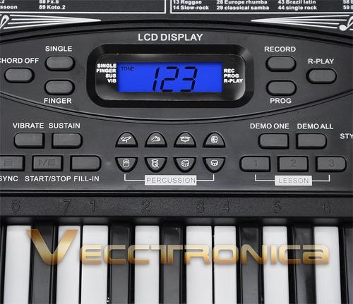 increible teclado musical  d 54 teclas funcion de grabacion