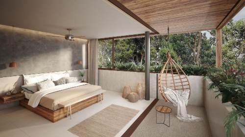 increíble townhouse con alberca y amplio jardin en tulum p2702