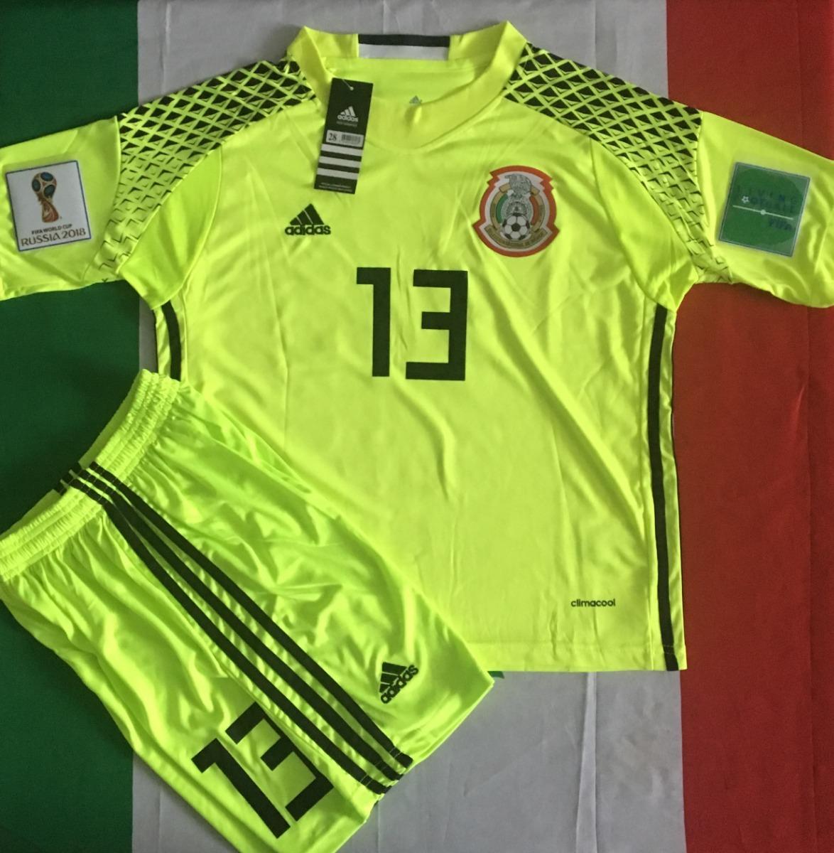 increible uniforme portero mexico ochoa niño limon parches. Cargando zoom. d365f78cc3c60