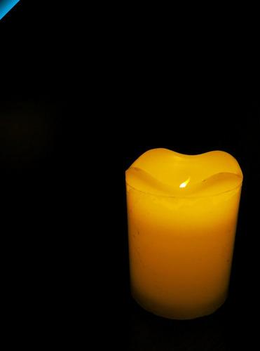 increíble vela de cera con luz led - vela led