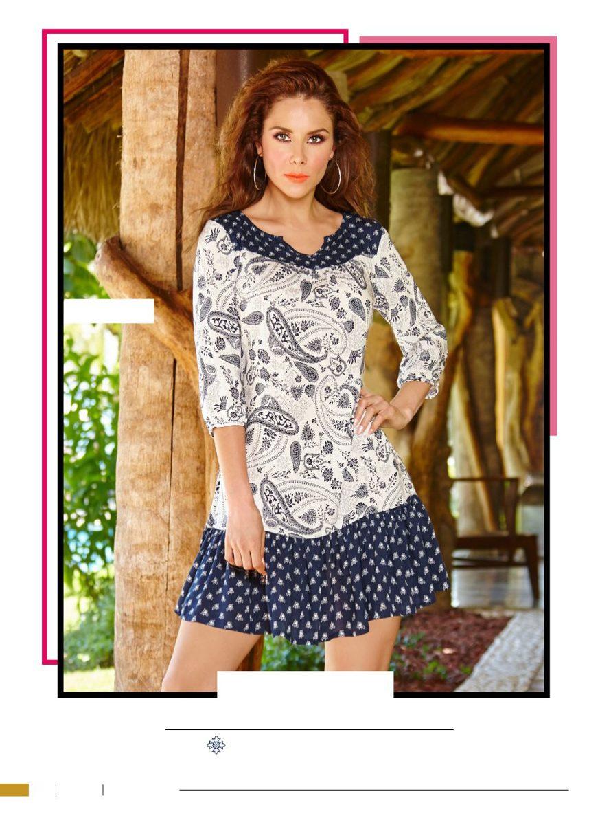 043480172e increíble vestido estampado manga 3 4 casual de moda cklass. Cargando zoom.