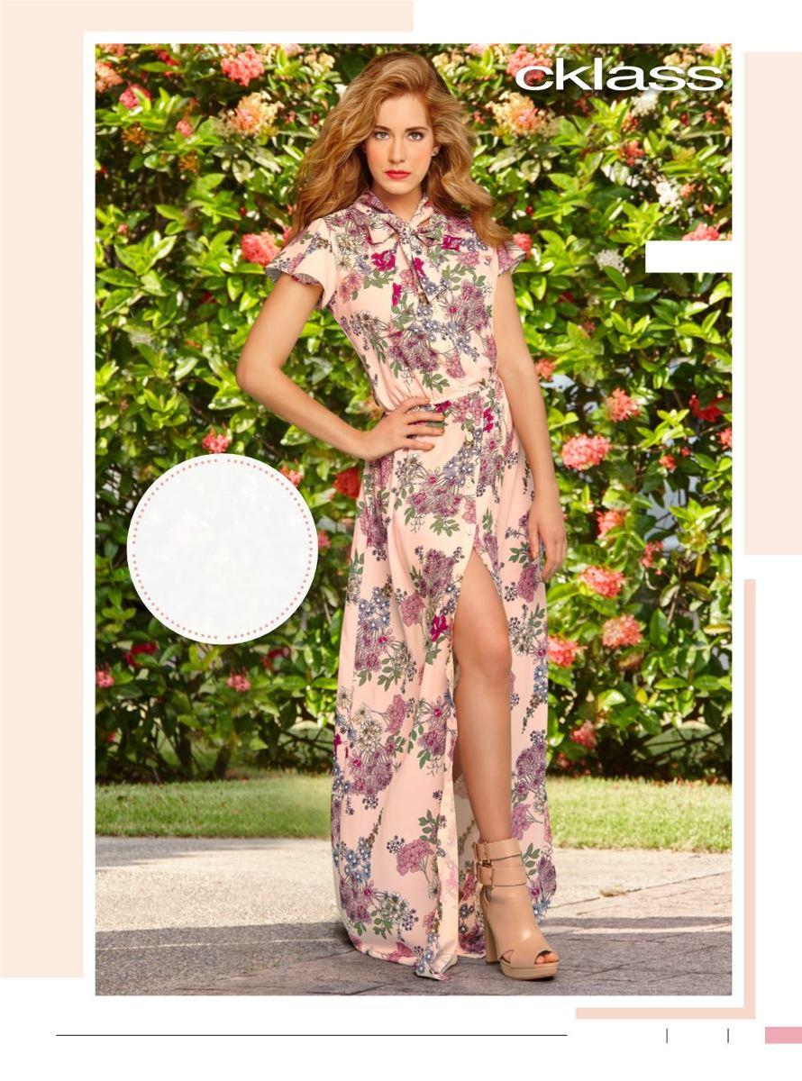 705f3cd87a increíble vestido floreado casual-formal de moda cklass. Cargando zoom.