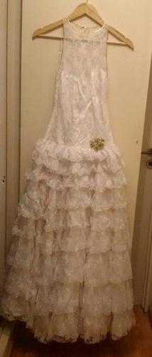 increíble vestido vintage novia o recepcion