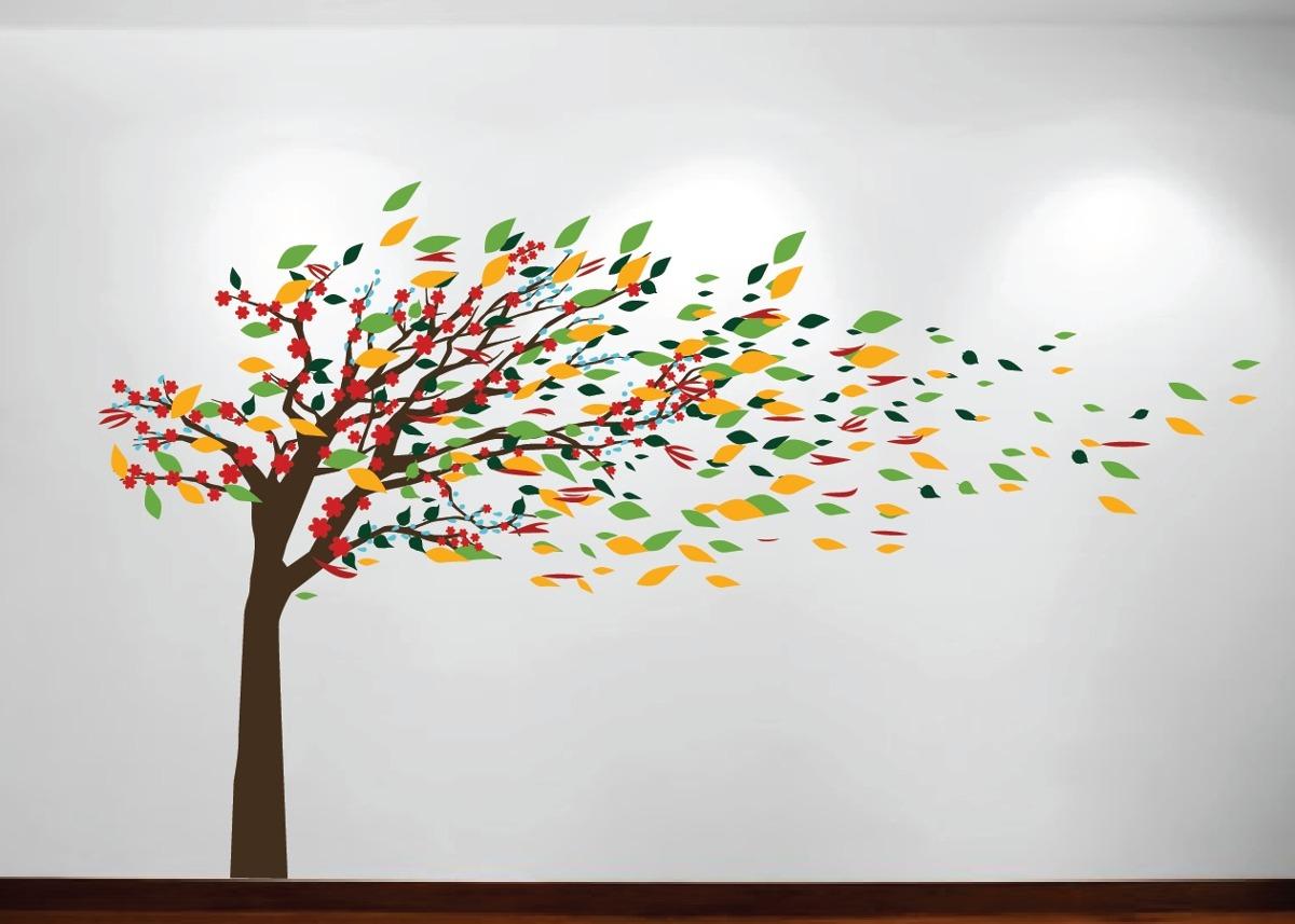 Incre ble vinilo decorativo rbol 150x115cm m s hojas for Arboles decorativos para jardin