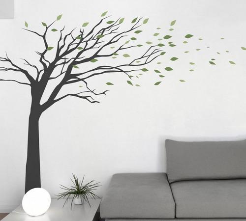 increíble vinilo decorativo árbol 150x150 más hojas