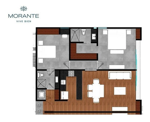 increíbles departamentos morante en montes de amé modelo 2 habitaciones