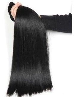 incrível cabelo virgem p/ mega hair 40-45cm 100g. liso