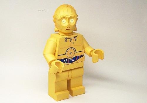 Resultado de imagen de lego c3po papercraft