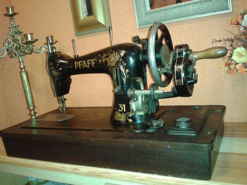 incrível: máquina costura pfaff 31 hand crank - germany/1916
