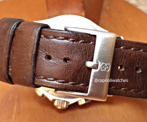 incrível relógio victorinox swiss army chrono classic 241151