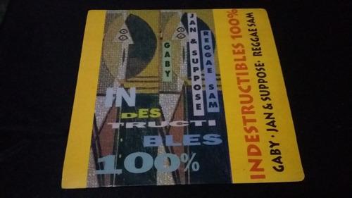 indestructibles 100% gaby jan & suppose lp vinilo reggae