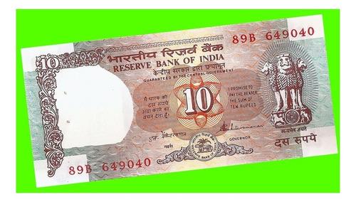 india - billete de 10 rupias 1992 ¡ sin circular !