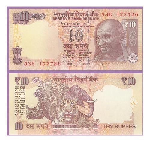 india - lote 4 billetes - 5, 10, 20 y 50 rupias - gandhi
