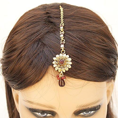 india paquistaní etnicos chapado en oro mang tika joyería n