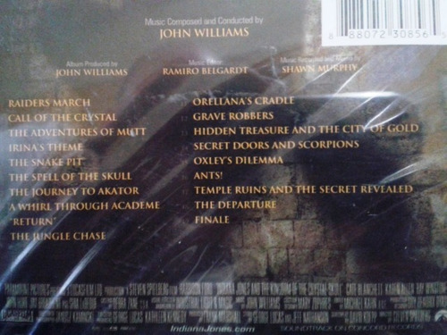 indiana jones and the kingdom of the crystal skull - cd