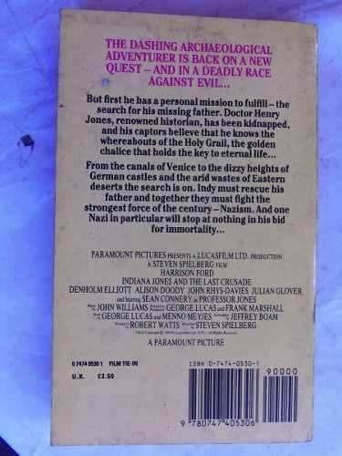 indiana jones and the last crusade libro pelicula ingles