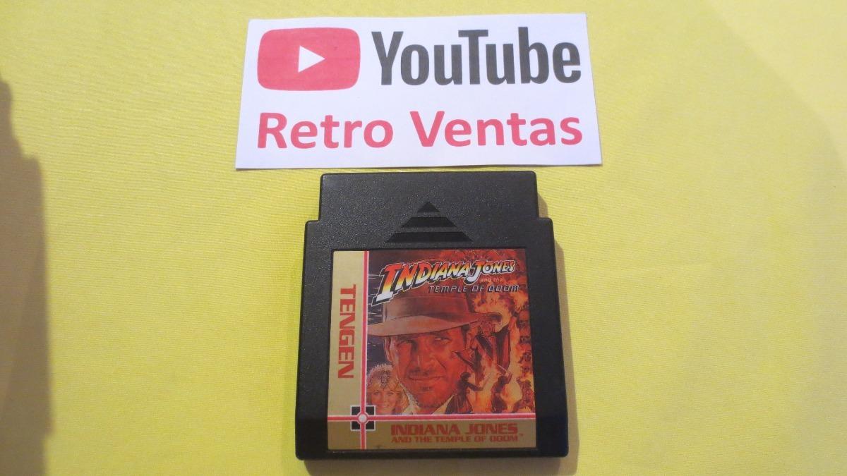 Indiana Jones And The Temple Of Doom Nintendo Nes - $ 180 00
